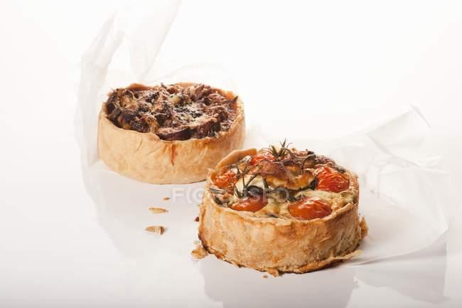 Two Individual Pizzas — Stock Photo
