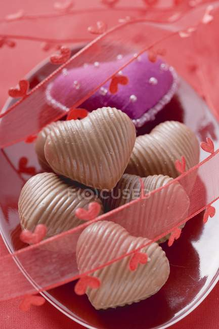 Chocolates for Valentine Day — Stock Photo