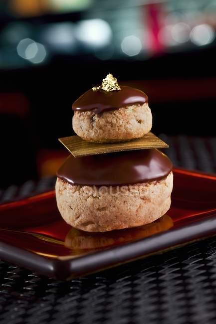 С накоплением десерт печенье — стоковое фото