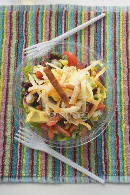 Mexican salad to take away — Stock Photo