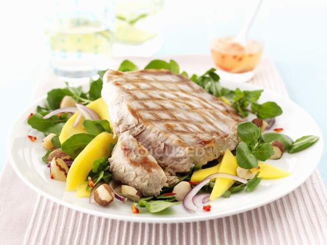Tuna fish steak — Stock Photo