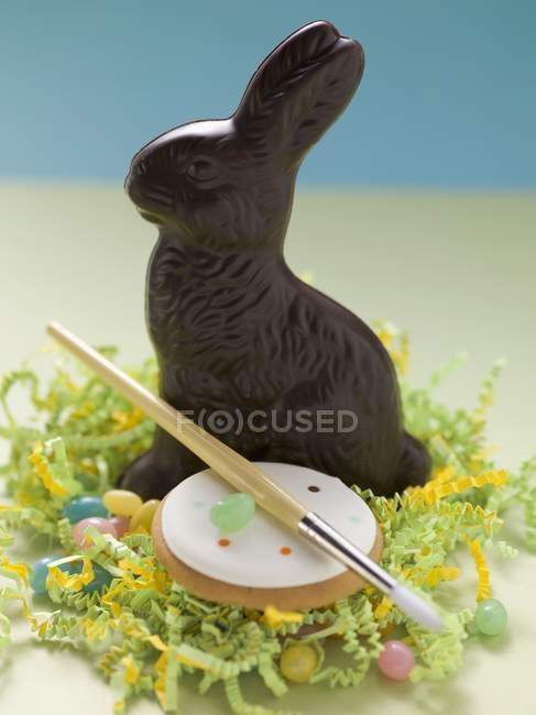 Bunnyin Пасха Нест — стоковое фото