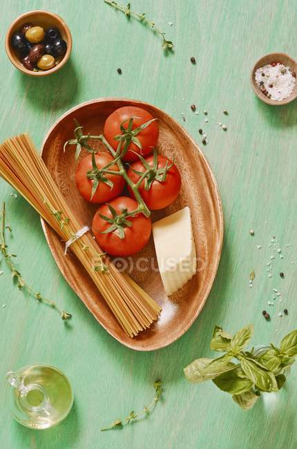 Ingredients for pasta dish — Stock Photo