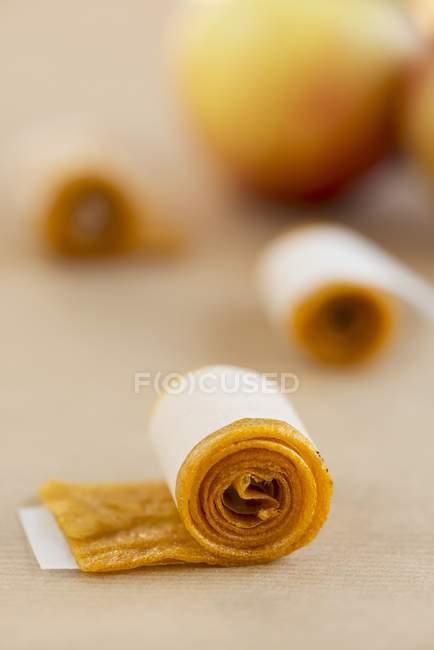 Couro feito de suco de maçã — Fotografia de Stock