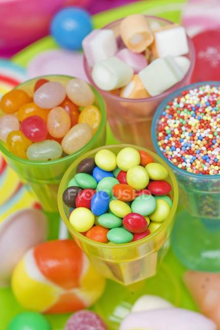 Assorted colourful sweets — Stock Photo