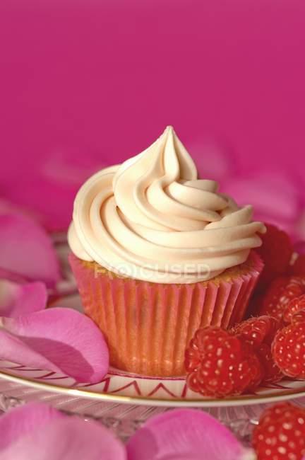 Cupcake mit Vanillezucker — Stockfoto