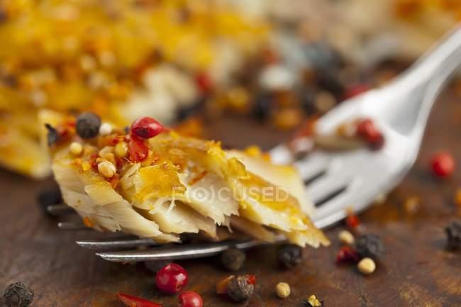 Скумбрия холодного копчения филе — стоковое фото