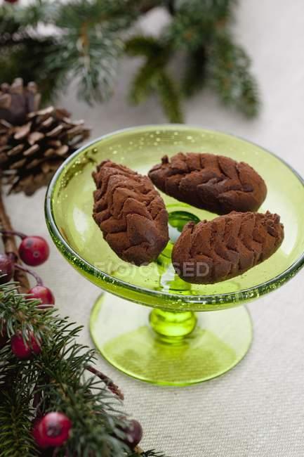Trufas de chocolate para Navidad - foto de stock