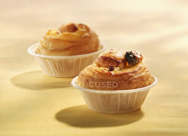 Pasticcini danesi in Pirottini muffin — Foto stock