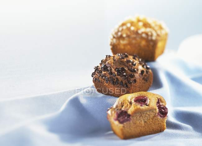 Tre mini-torte — Foto stock