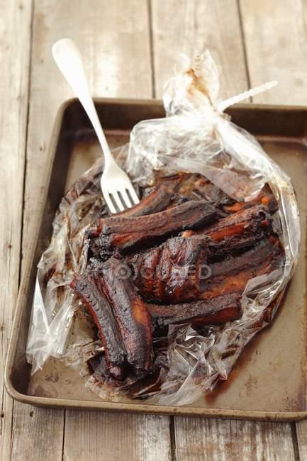 Costine di maiale arrosto — Foto stock