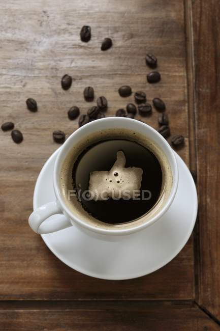 Coffee In Cup With Like Symbol Stock Photo 151945770