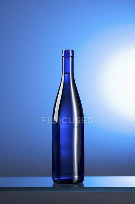 Closeup view of blue water bottle — Stock Photo