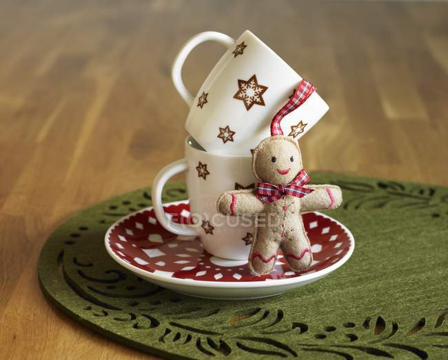 Two Christmas Mugs — Stock Photo