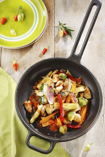 Farbenfrohes gebratenes Gemüse — Stockfoto