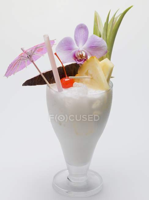 Long drink with milk — Stock Photo