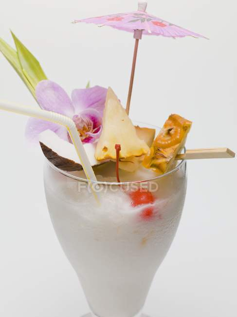 Long drink made with coconut — Stock Photo