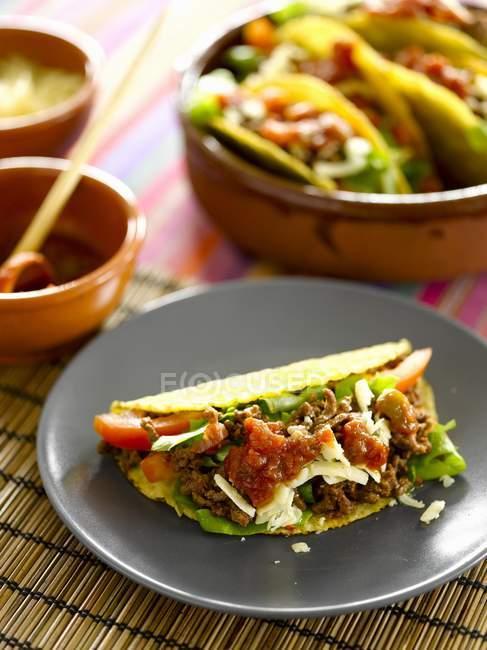Tacos con carne macinata — Foto stock