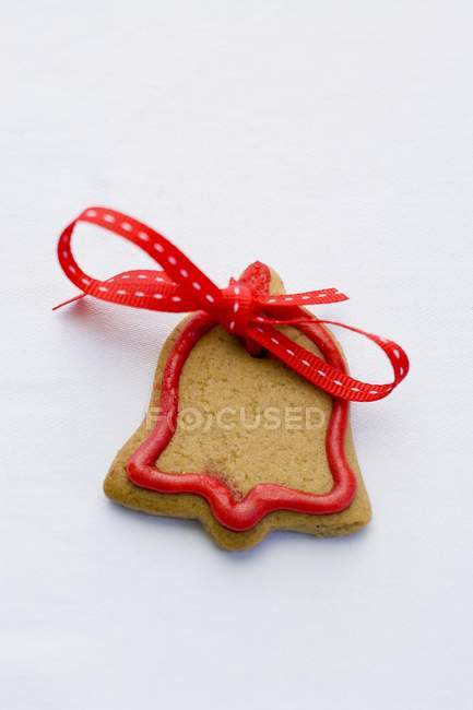 Bell-shaped Christmas biscuit — Stock Photo