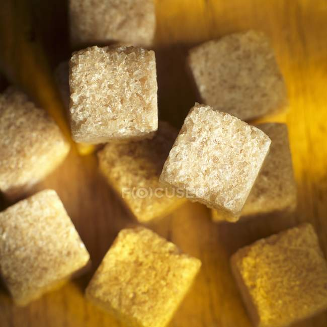 Cubos de açúcar de cana — Fotografia de Stock