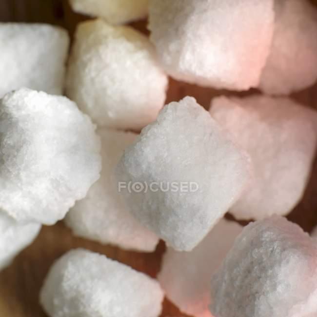 Cubos de açúcar branco — Fotografia de Stock