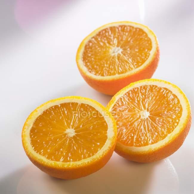 Fresh Orange Halves — Stock Photo