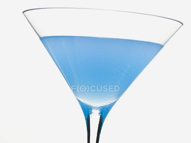 Cocktail with Blue Curaao — Stock Photo