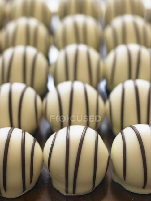 Bombones de chocolate blanco - foto de stock