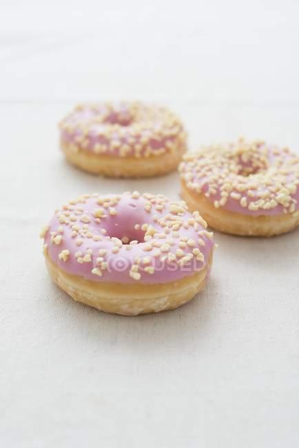 Donuts de vidro Stawberry — Fotografia de Stock