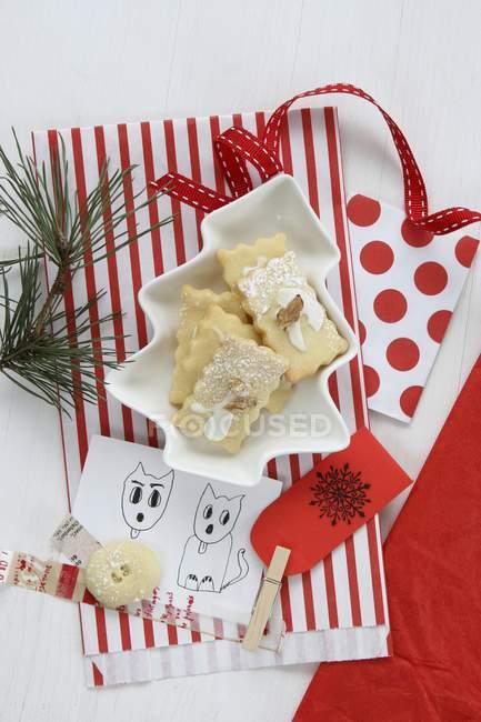 Різдво печиво з мішка — стокове фото