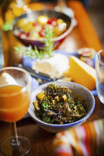 Kale patatine e formaggio — Foto stock