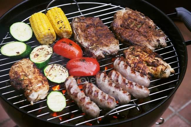 Marinated pork steaks — Stock Photo