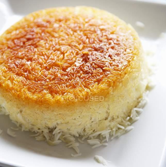 Хрусткі зерна рису блюдо — стокове фото