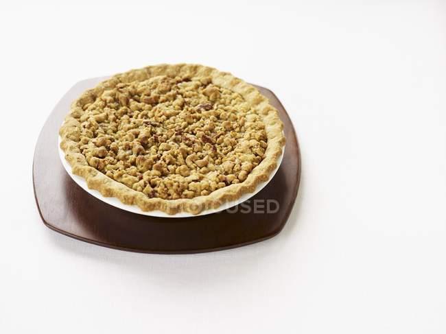 Крамбл-тарт из ревеня — стоковое фото