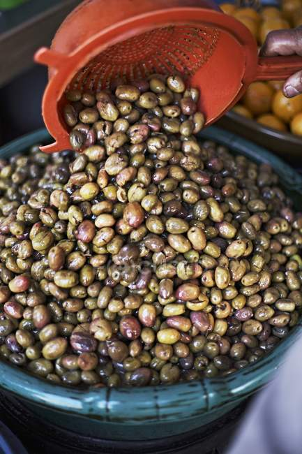 Erhaltene Oliven — Stockfoto