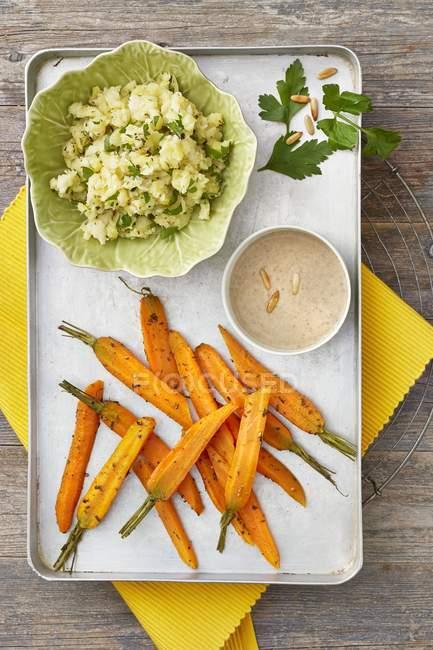 Ofengeröstete Karotten — Stockfoto
