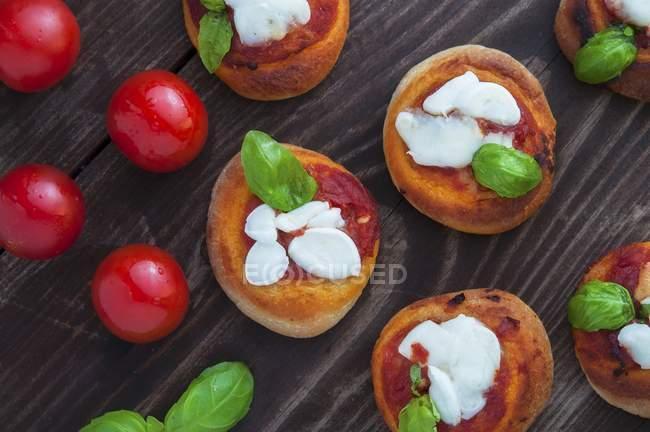 Pizzette mini pizzas — Stock Photo