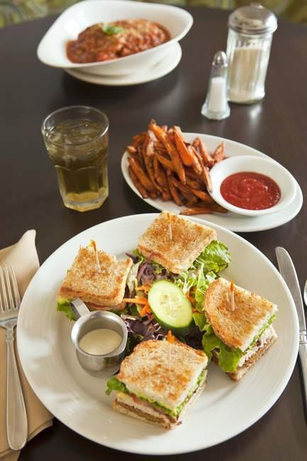 Vegan club sandwich — Foto stock
