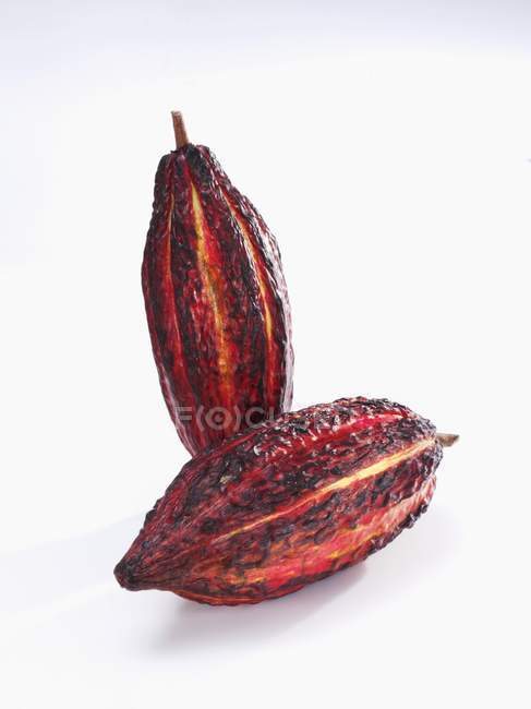 Vainas de cacao dulce - foto de stock