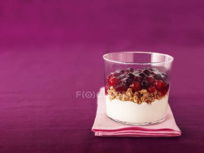 Beeren-Marmelade mit Getreide — Stockfoto