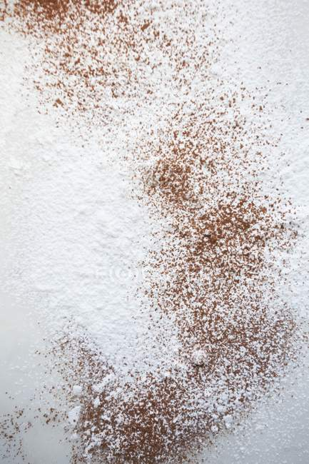 Cocoa and icing sugar — Stock Photo