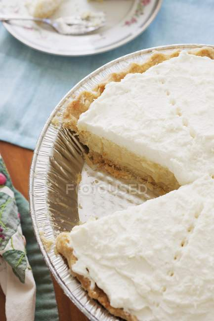 Coconut Cream Pie — Stock Photo