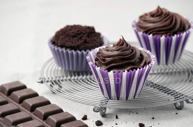 Шоколад Ганаш кексы — стоковое фото