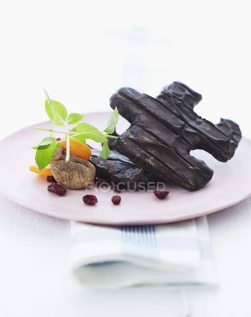 Шоколад печенье пластины — стоковое фото