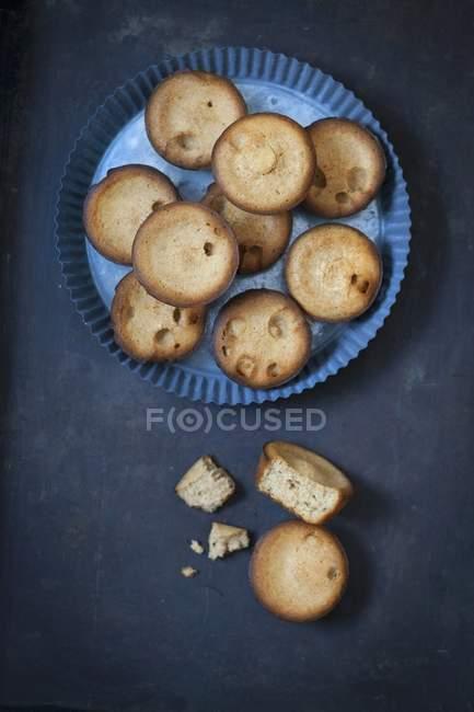 Muffins de lata de tarta - foto de stock