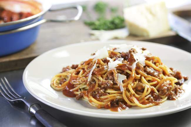 Pâtes de spaghetti bolognaise — Photo de stock