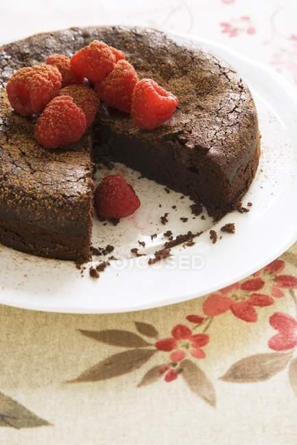 Torta al cioccolato senza glutine — Foto stock