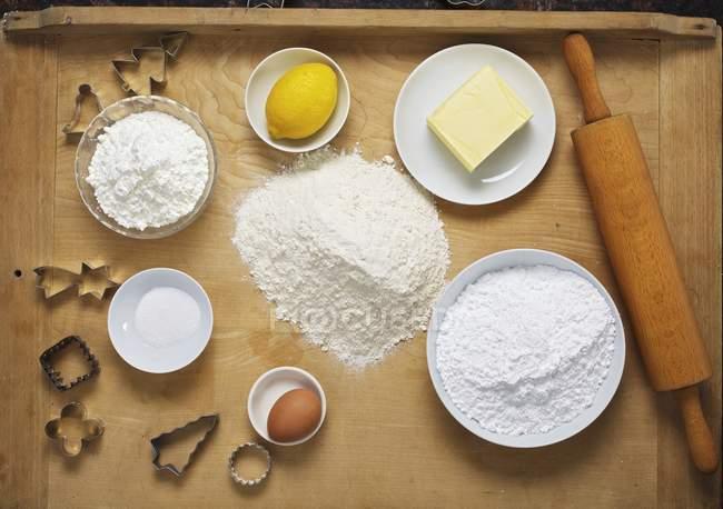 Інгредієнти для випічки печива — стокове фото