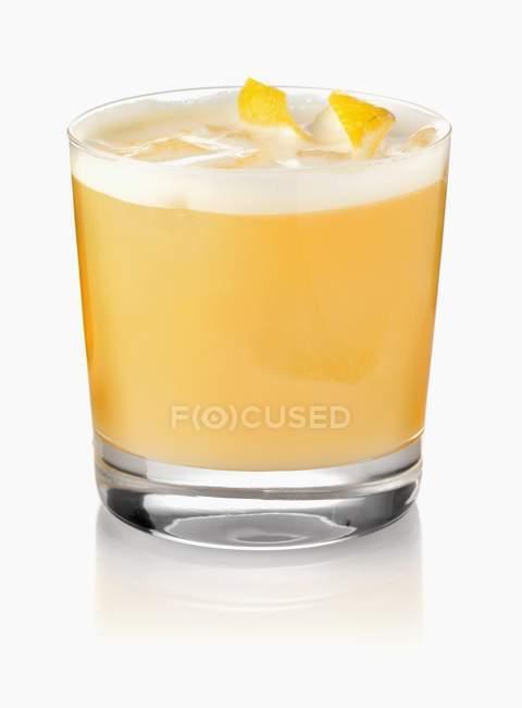 Cóctel Gin Sour - foto de stock