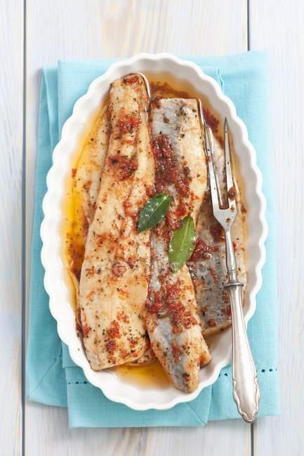 Hareng mariné au pesto de tomates séchées — Photo de stock